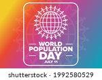 world population day. july 11....   Shutterstock .eps vector #1992580529