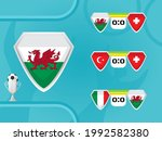 schedule of national football... | Shutterstock .eps vector #1992582380