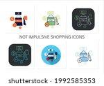 not impulsive shopping icons... | Shutterstock .eps vector #1992585353