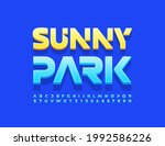 vector trendy emblem sunny park.... | Shutterstock .eps vector #1992586226