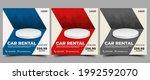 car rental social media post... | Shutterstock .eps vector #1992592070
