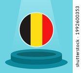 flag of belgium on the podium.... | Shutterstock .eps vector #1992600353