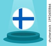 flag of finland on the podium.... | Shutterstock .eps vector #1992600866