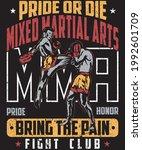 mixed martial arts mma fighter... | Shutterstock .eps vector #1992601709