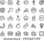 food line icon set   cherry... | Shutterstock .eps vector #1992607199