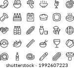 food line icon set   hot bowl ... | Shutterstock .eps vector #1992607223