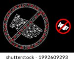 glowing mesh no hand with... | Shutterstock .eps vector #1992609293