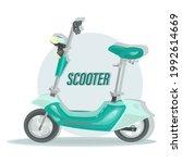 electric scooter. vector... | Shutterstock .eps vector #1992614669