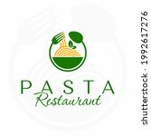 pasta restaurant logo. italian... | Shutterstock .eps vector #1992617276