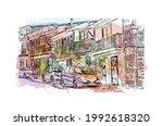 building view with landmark of... | Shutterstock .eps vector #1992618320