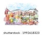 building view with landmark of... | Shutterstock .eps vector #1992618323