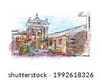 building view with landmark of... | Shutterstock .eps vector #1992618326