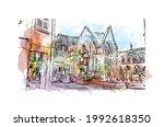 building view with landmark of... | Shutterstock .eps vector #1992618350