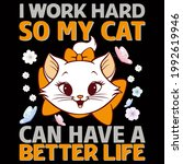 cat lover vector illustration... | Shutterstock .eps vector #1992619946