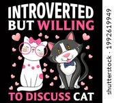 cat lover vector illustration... | Shutterstock .eps vector #1992619949