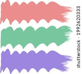 brush strokes with a colored... | Shutterstock .eps vector #1992620333