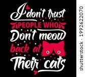 cat lover vector illustration... | Shutterstock .eps vector #1992622070