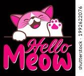 cat lover vector illustration... | Shutterstock .eps vector #1992622076