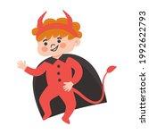 halloween kids costume party.... | Shutterstock .eps vector #1992622793