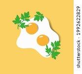fried eggs. scrambled egg. ... | Shutterstock .eps vector #1992622829