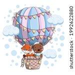 cute little baby animals bear... | Shutterstock .eps vector #1992622880