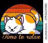 cat lover vector illustration... | Shutterstock .eps vector #1992624980