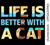cat lover vector illustration... | Shutterstock .eps vector #1992624983