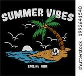 summer vibes skeleton in beach... | Shutterstock .eps vector #1992641540
