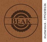 beak vintage wood emblem....   Shutterstock .eps vector #1992658136