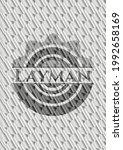 layman silver color emblem.... | Shutterstock .eps vector #1992658169
