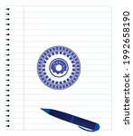 donut icon with pen strokes.... | Shutterstock .eps vector #1992658190