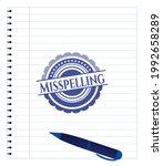 misspelling drawn with pen.... | Shutterstock .eps vector #1992658289