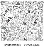 business theme pattern  vector... | Shutterstock .eps vector #199266338