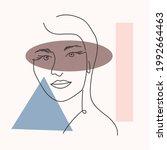 woman portrait in modern... | Shutterstock .eps vector #1992664463