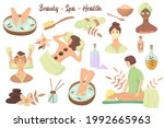 set of beauty symbols and spa... | Shutterstock .eps vector #1992665963