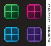 blocks four color glass button...