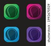 black baseball ball four color... | Shutterstock .eps vector #1992670529