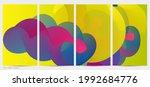 3d fluid wavy shape. bright... | Shutterstock .eps vector #1992684776