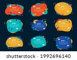 set of various colorful... | Shutterstock .eps vector #1992696140