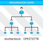 organization chart template | Shutterstock .eps vector #199273778