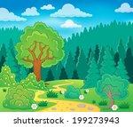 spring theme landscape 9  ... | Shutterstock .eps vector #199273943