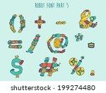 vector cartoon colorful robot... | Shutterstock .eps vector #199274480
