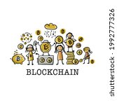 cryptocurrency concept with... | Shutterstock .eps vector #1992777326