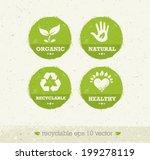 organic green circle icons....