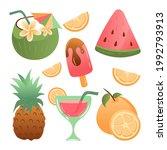 summer holiday clipart element... | Shutterstock .eps vector #1992793913