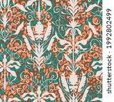 art nouveau style seamless...   Shutterstock .eps vector #1992802499