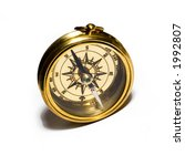old style gold compass on white ... | Shutterstock . vector #1992807