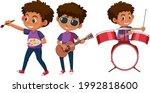 set of a boy cartoon character... | Shutterstock .eps vector #1992818600