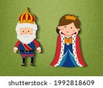 king and queen cartoon... | Shutterstock .eps vector #1992818609