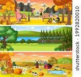 different nature landscape at... | Shutterstock .eps vector #1992820010